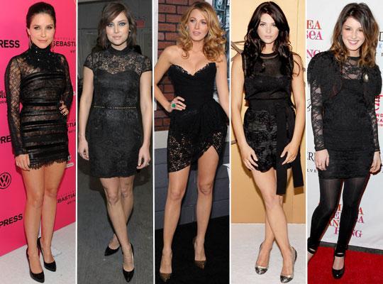 vestidos de renda preto 2012