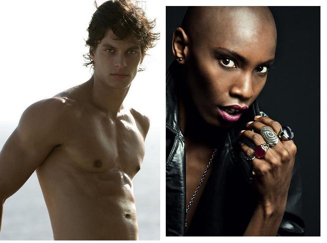 Os modelos Felipe Anibal e Malana de freitas
