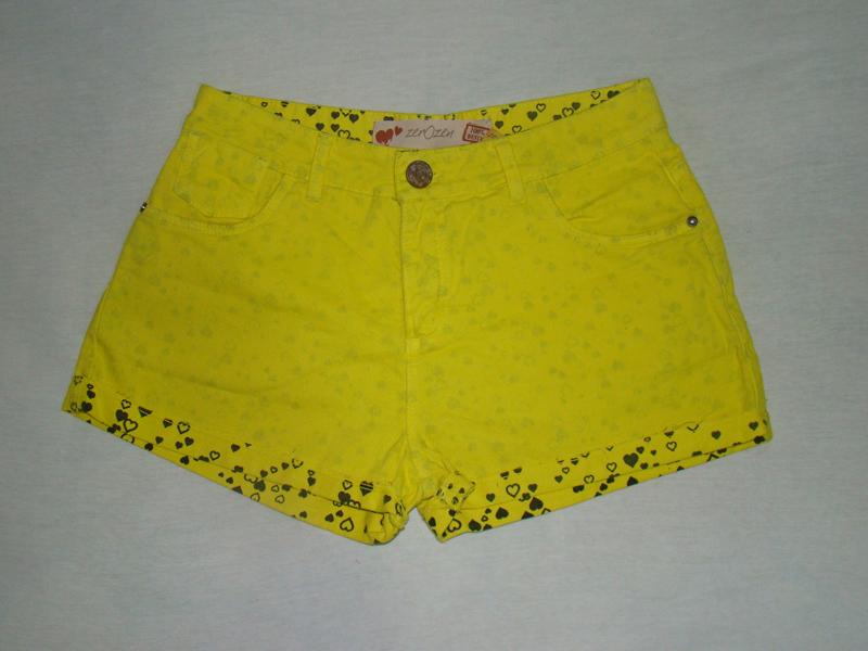 Short jeans fluo amarelo Zerozen - 40% de desconto a vista